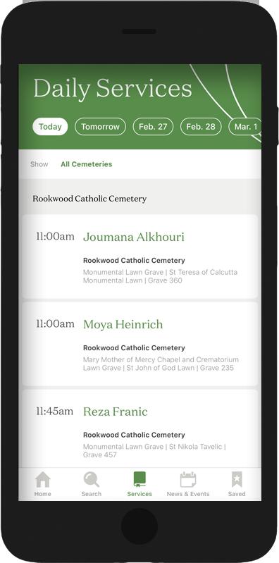 Catholic Cemeteries App Services