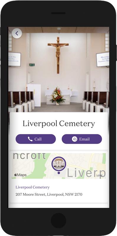 Catholic Cemeteries App Liverpool homepage